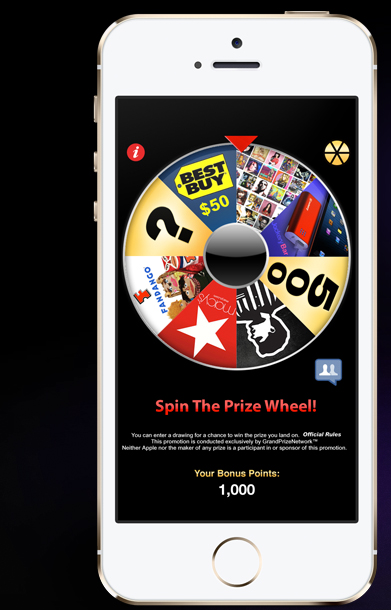 Prize Wheel App for Apple or Android | Win real prizes