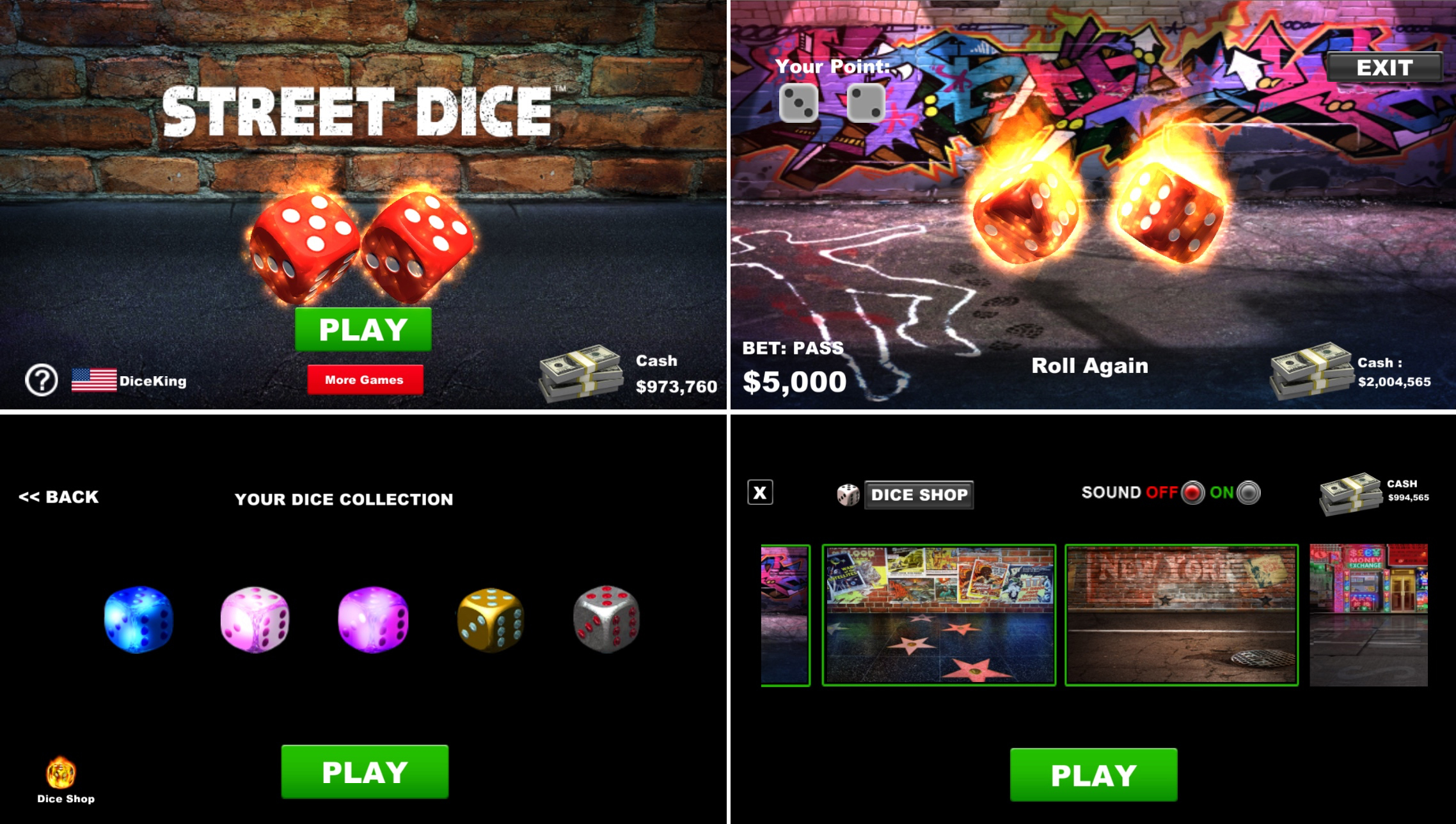 The Street Dice App is now available on the App and Play Store Image